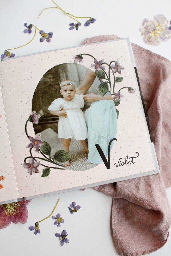 Lily & Val for Mixbook - Flower Alphabet Custom Photo Book