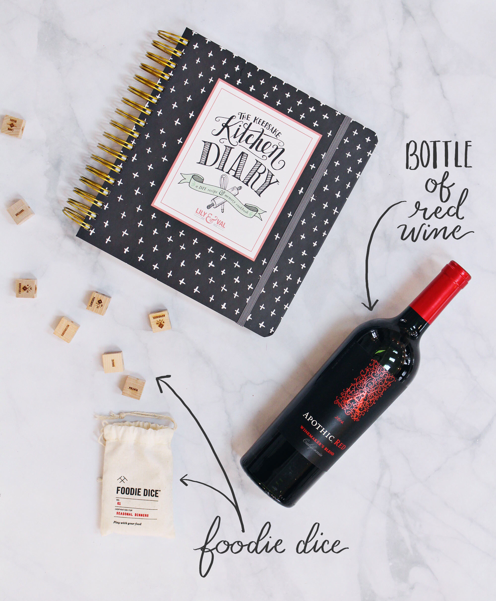 For the new couple, give them a gift of a night in. Using Foodie Dice & The Keepsake Kitchen Diary, they can create new recipes and memories to last forever.