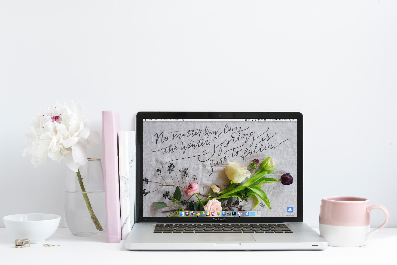 April S Spring Floral Free Desktop Wallpaper Download Lily Val