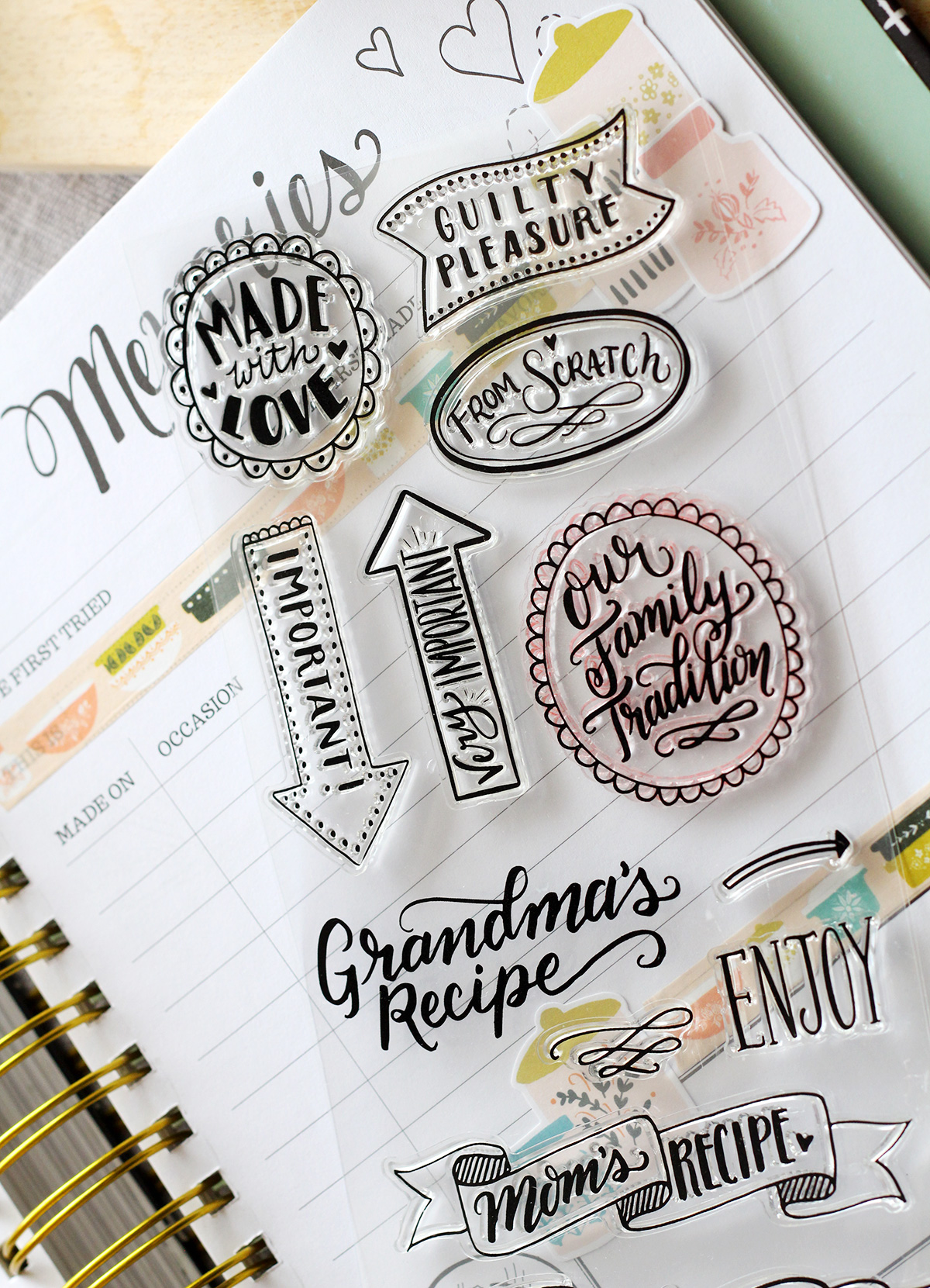 New Keepsake Kitchen Diary Stamps and Crafting Supplies