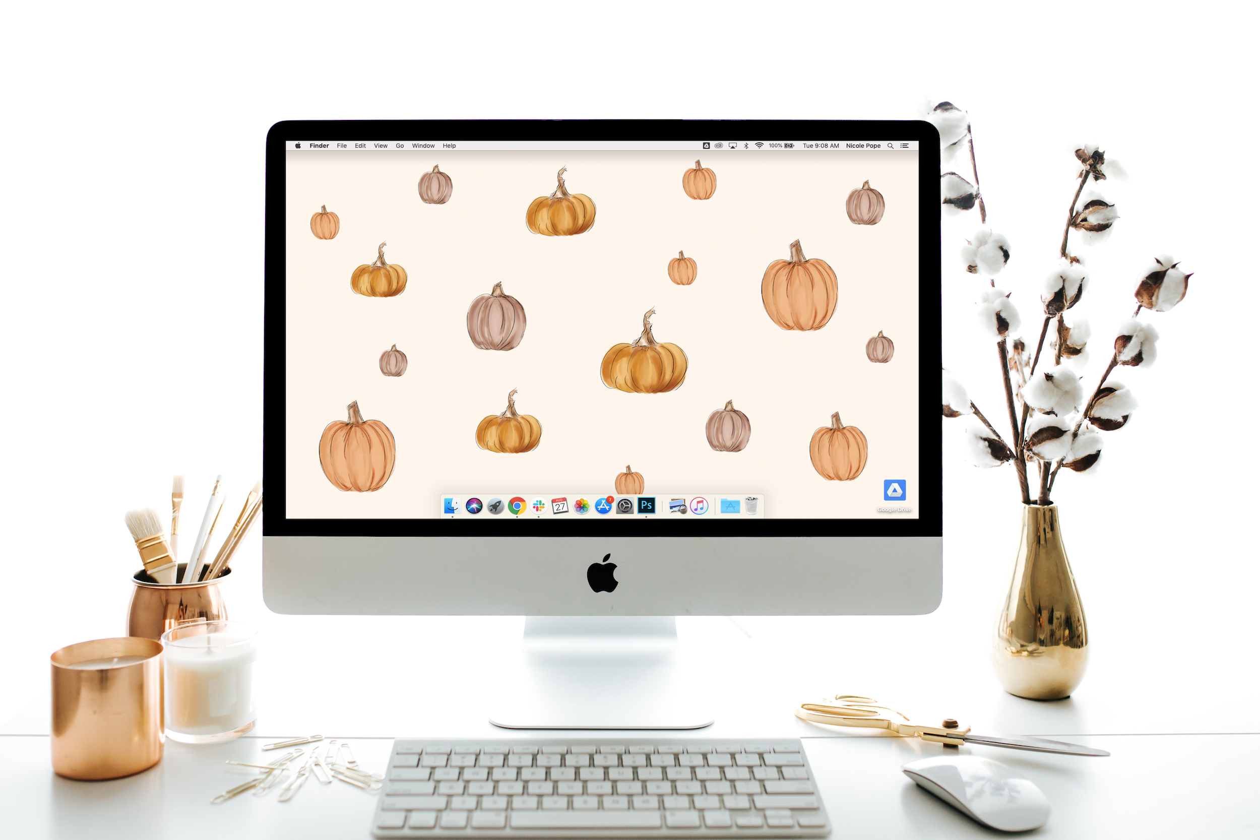 "Lily & Val September's ""Pumpkin"" FREE Desktop Download"