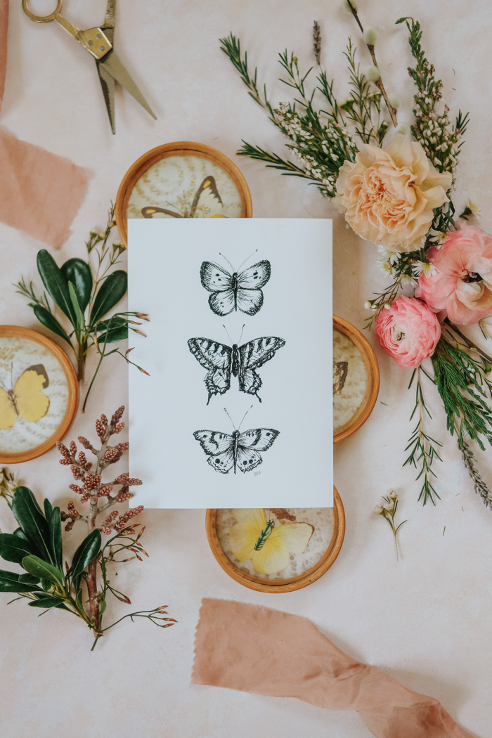 Hand-drawn and illustrated Spring artwork for your Spring decor by Lily & Val